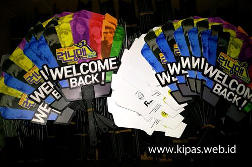 Kipas Plastik Race Start 'Running Man'