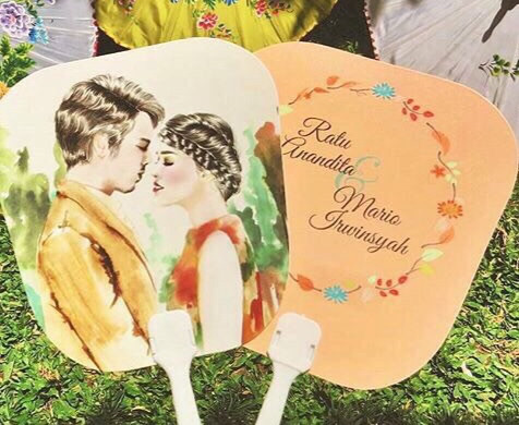 Kipas Plastik Undangan Ratu Anandita dan Mario