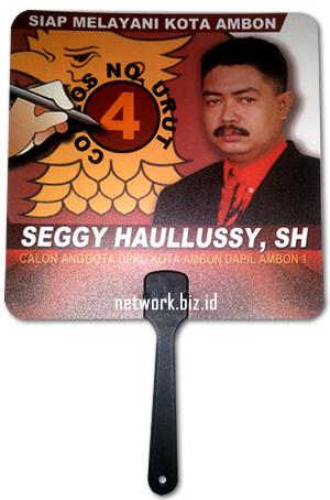 Kipas Caleg Gerindra Ambon Seggy Haullussy