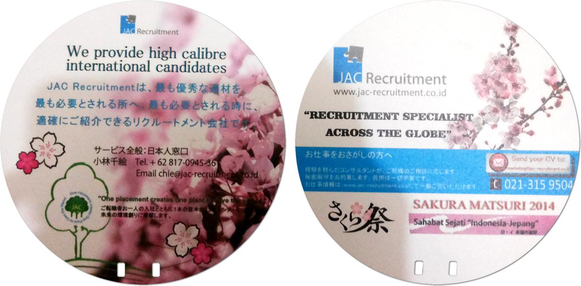 Kipas Promosi Plastik PVC JAC