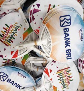 kipas promosi model kerang bank bri