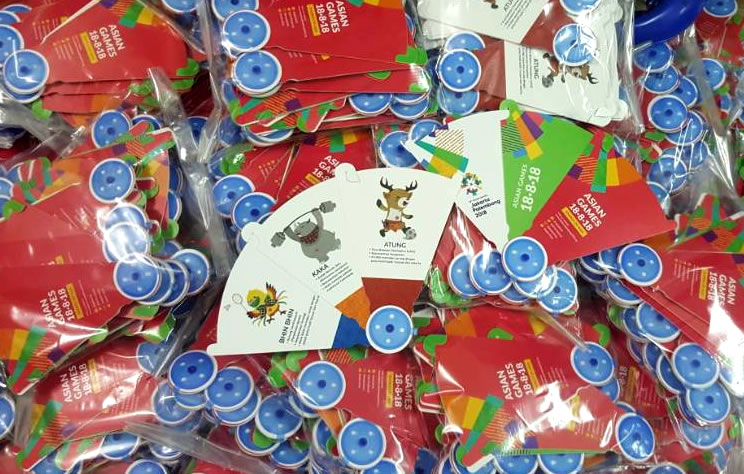Kipas Plastik Model Lipas Asian Games Untuk di PRJ