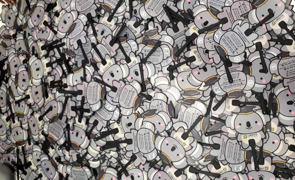 Repeat Order Kipas Plastik Promosi PVC Loekito